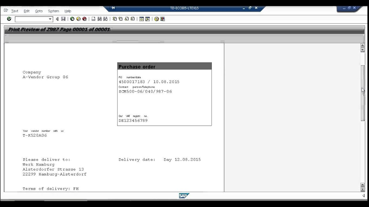 SAP MM step-by-step: Output messages (5)