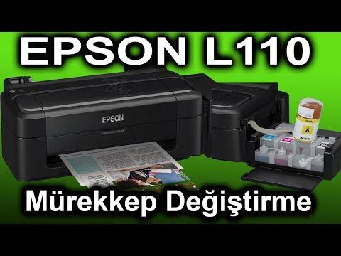 Epson L110 Mürekkep Değiştirme #konuşanservis