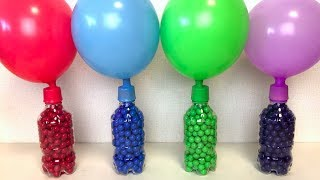 Learn Colors Balloons Bottles Beads and Balls, Learn Colors Pj Masks Surprise Toys