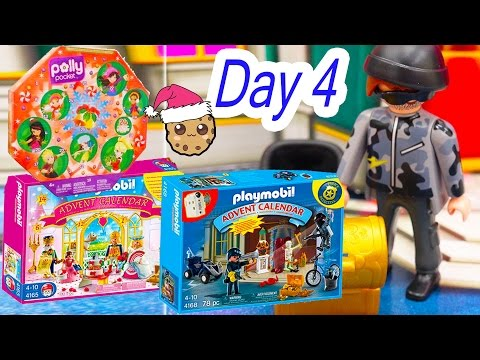 Polly Pocket, Playmobil Holiday Christmas Advent Calendar Day 4 Toy Surprise Opening Video