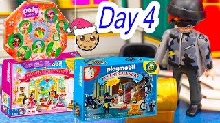 polly pocket playmobil holiday christmas advent calendar day 4 toy surprise opening video