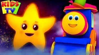 Twinkle Twinkle Little Star   Bob The Train Cartoons   Nursery Rhymes For Children  - Kids TV