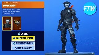 Fortnite Item Shop *NEW* TIDAL WAVE ANIMATED WRAP AND SUPERSONIC SKINS!!!