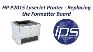 HP P2015 - Replacing the Formatter Board
