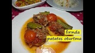 fırında patates oturtma-lezzet dünyası