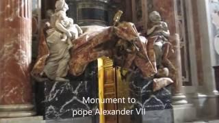 Visit inside St  Peter's Basilica, Vatican!  Thăm Bên trong Vương Cung Thánh Đường Thánh Phêrô