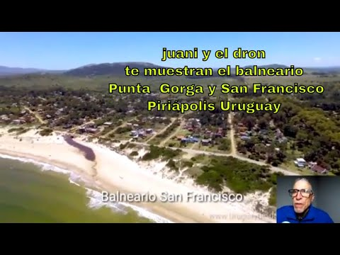 Balneario SanFrancisco, Piriapolis,  Punta Colorada, vista aérea.