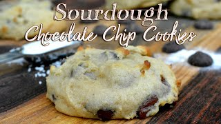 Sourdough Chocolate Chip Cookies | Bakery Style Cookies | Sourdough Discard Recipe