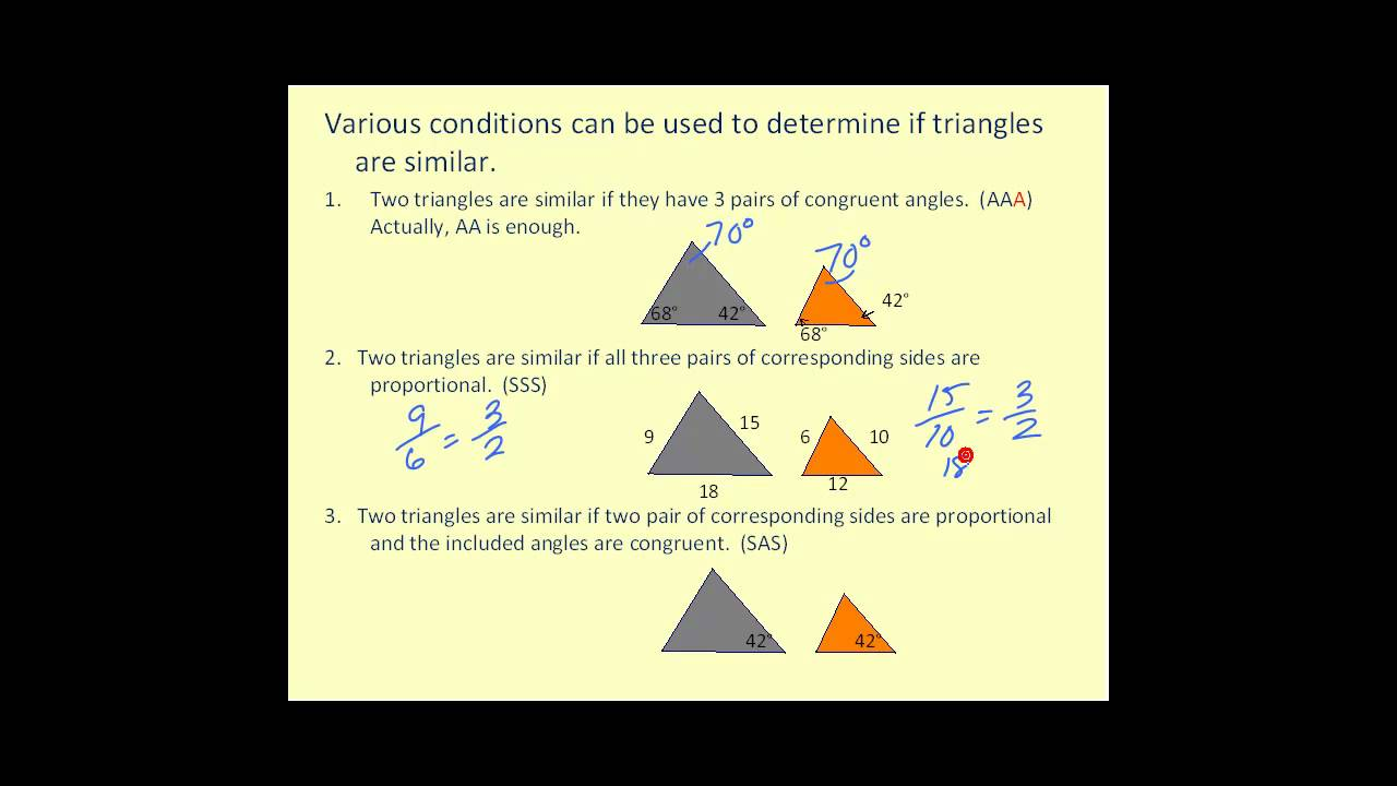 medium resolution of Congruent and Similar Triangles - YouTube