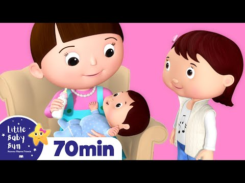 New Baby Brother & Sister | Plus More Nursery Rhymes | Over 60 Mins Compilation from LittleBabyBum!