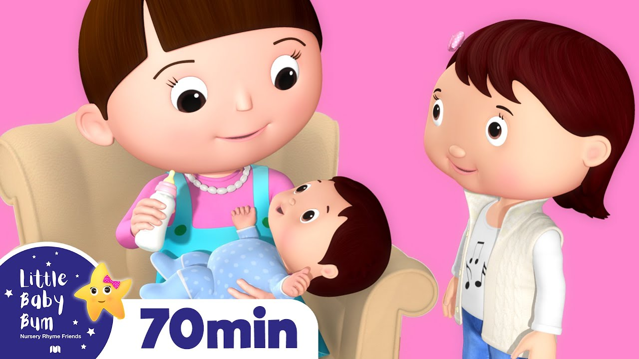 New Baby Brother & Sister | Plus More Nursery Rhymes | Over 60 Mins Compilation from LittleBabyBum! #1