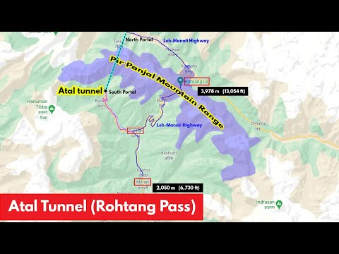 Atal Tunnel (Rohtang Tunnel) - Its Strategic importance and features