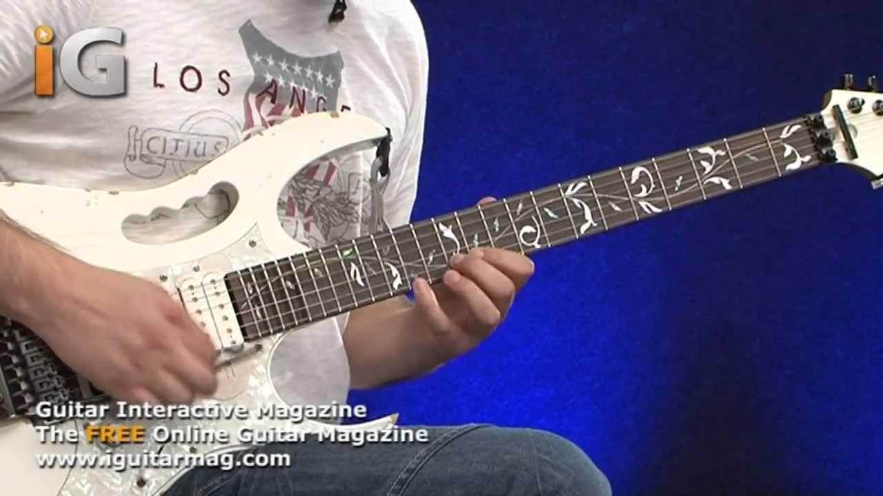 Steve Vai Ibanez Jem Evo Guitar Demo Review