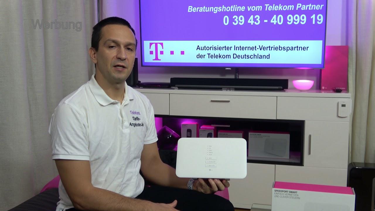 Telekom Speedport Smart 3 Wlan Router Fur Telekom Magentazuhause Dsl Vdsl Oder Glasfaser Youtube