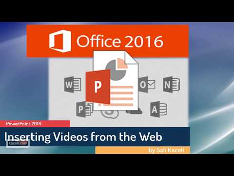 PowerPoint 2016: How to Insert and Embed a YouTube Video in PowerPoint (10/30)