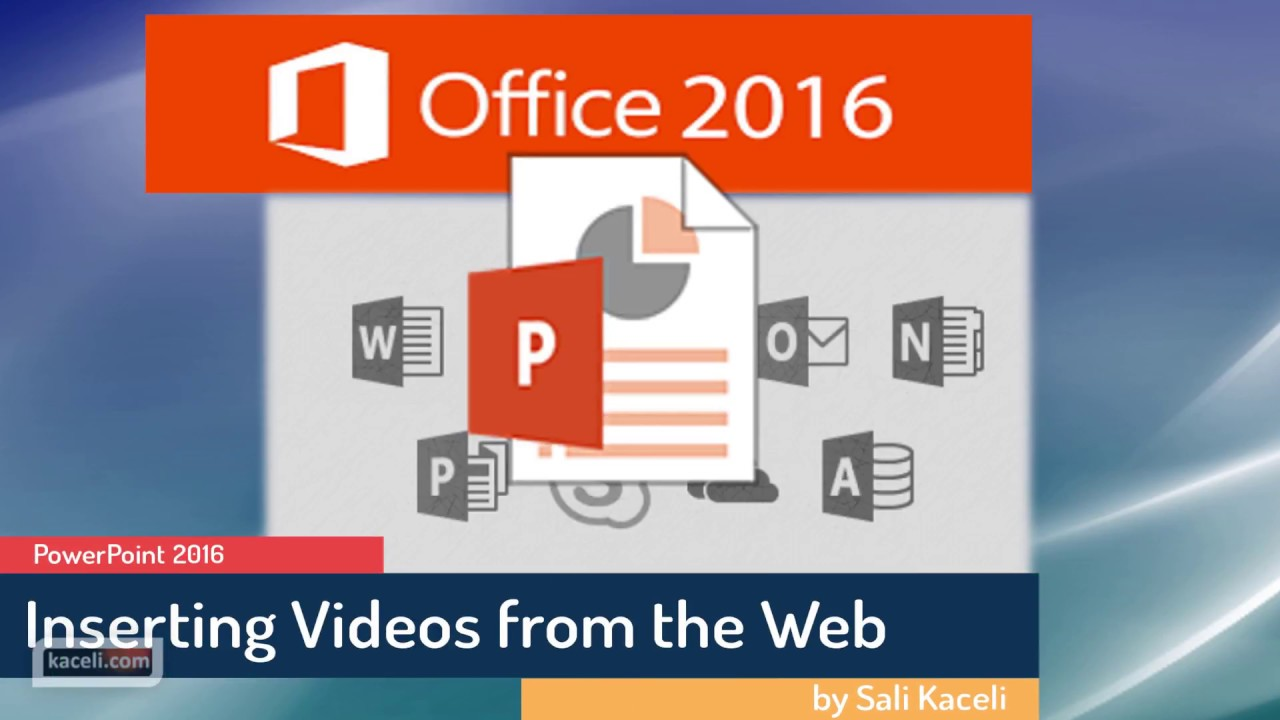 PowerPoint 2016 How To Insert And Embed A YouTube Video In 10 30