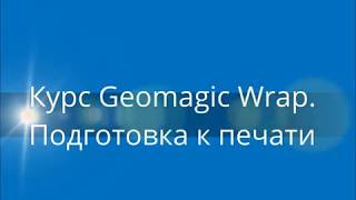 "Курс обучения ""Geomagic Wrap"". Подготовка к печати"