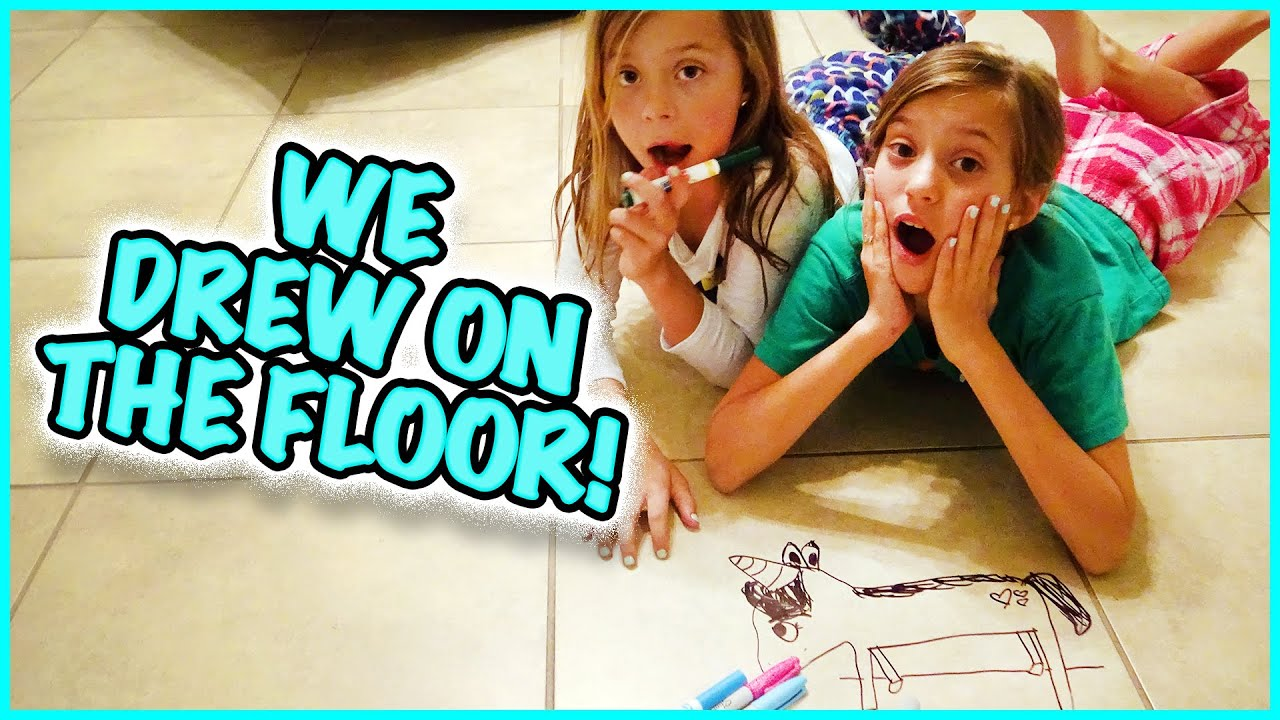We Drew All Over The Floor In Our House Youtube