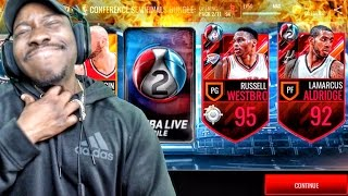 TRIPLE-DOUBLE KING PROGRESS & CONF SEMIFINALS PACK OPENING! NBA Live Mobile 16 Gameplay Ep. 109