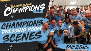 MAN CITY DRESSING ROOM CELEBRATIONS! | PREMIER LEAGUE CHAMPIONS!