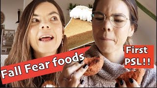 Eating Fall Foods For a Day. Fear Foods and First Pumpkin Spice Latte!