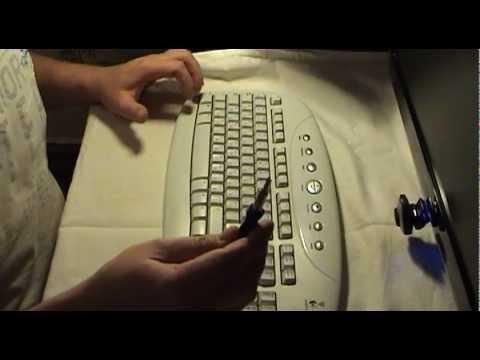Разборка и чистка клавиатуры