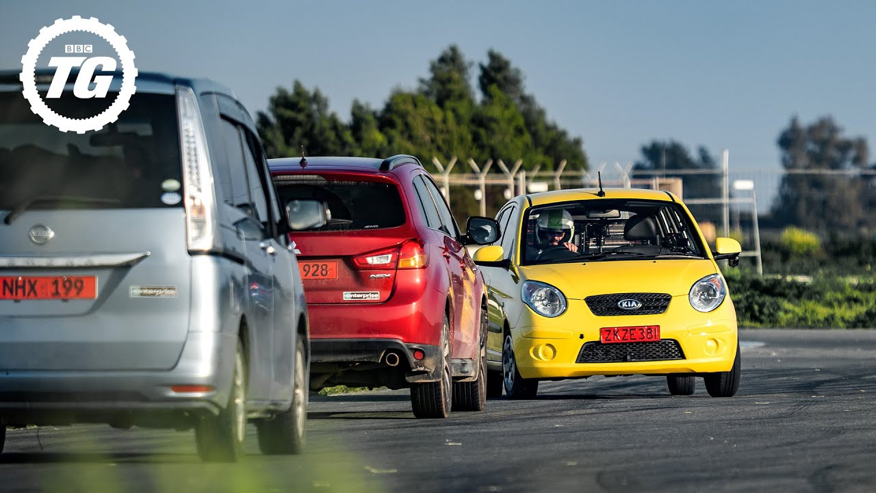 Chris Harris laps a Kia Picanto the wrong way around a race track | Top Gear: Series 29