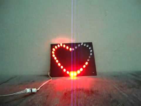 Làm LED trái tim với 8501 -  Hội Quán Điện Tử.flv