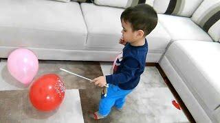 Berat Bütün Balonları Patlattı. Eğlenceli Çocuk Videosu