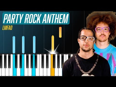 """LMFAO - """"Party Rock Anthem"""" Piano Tutorial - Chords - How To Play - Cover"""