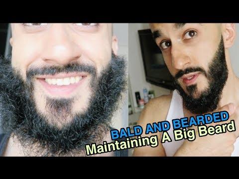 BALD AND BEARDED TUTORIAL - How I Maintain A Long Length Beard!