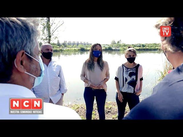 CINCO TV - Malena Galmarini y concejales recorrieron una obra cloacal para 100.000 vecinos de Tigre