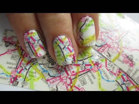 Map Nail Art Youtube