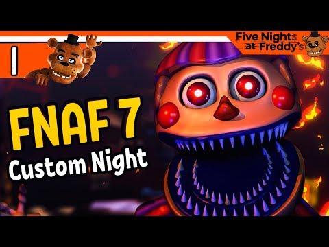 ФНАФ 7 НАЧАЛО 👹 FNAF 7 Ultimate Custom Night ПРОХОЖДЕНИЕ НА РУССКОМ