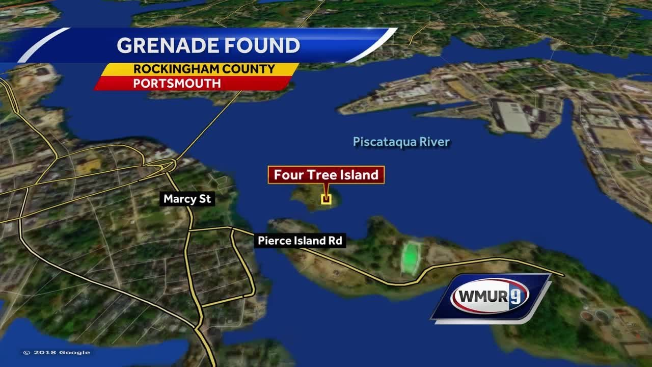 Inert grenade found on island off Portsmouth
