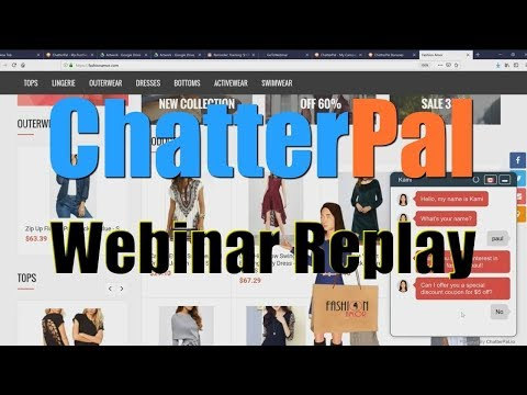 ChatterPal Review Webinar Replay Bonus - AI Chat Automated Animated Bots. http://bit.ly/30Hw13Y
