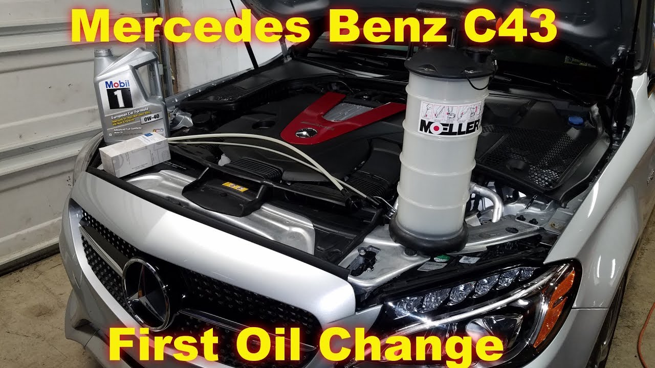 Mercedes Oil Change >> First Oil Change In The C43