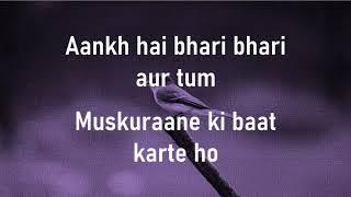 Aankh hai bhari bhari  Tum Se Achcha Kaun Hai  Alka Yagnik  Lyrics