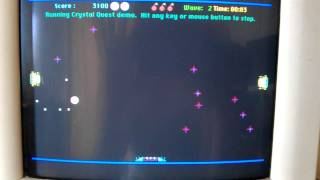 Crystal Quest on Macintosh Colour Classic (MacOS 7.5)
