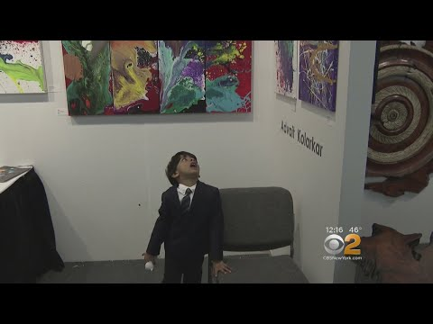 4-Year-Old Artist Making Colorful Splash In Art World