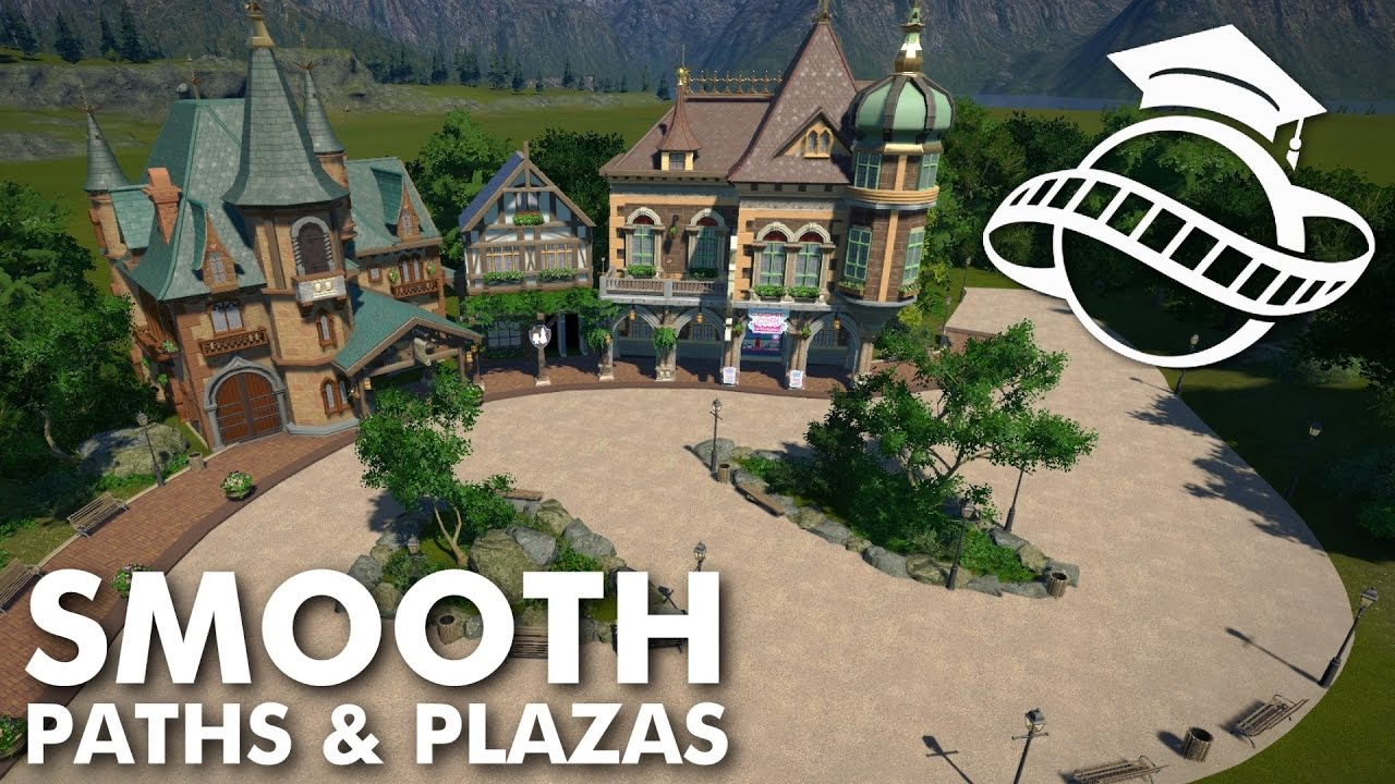Planet Coaster College Smooth Paths Plazas Tutorial Youtube