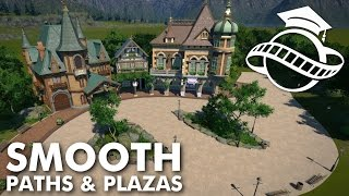 Planet Coaster College - Smooth Paths & Plazas Tutorial