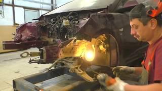 Хундай солярис ремонт переда после аварии Нижний Новгород Hyundai Solaris Auto body repair
