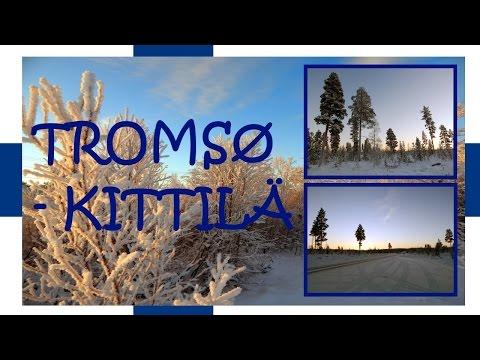 Tromsø - Kittilä fall/winter road in timelapse