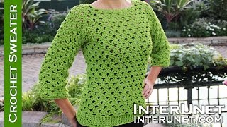 Lace sweater crochet pattern