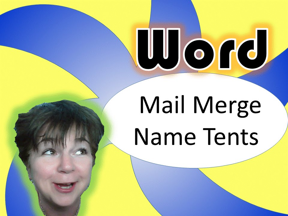 microsoft word mail merge double sided name tents