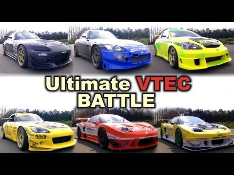 [ENG CC] Ultimate VTEC battle - Jun DC5, Spoon/J's/CWest S2000, KS/Ritmo NSX VTEC Club 2