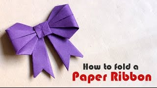 How To: Cut & Fold a Paper Ribbon