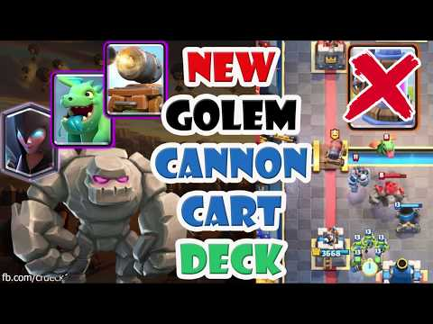 Golem Night Witch Cannon Cart Deck ????️????️????️ Golem Deck without Elixir Collector