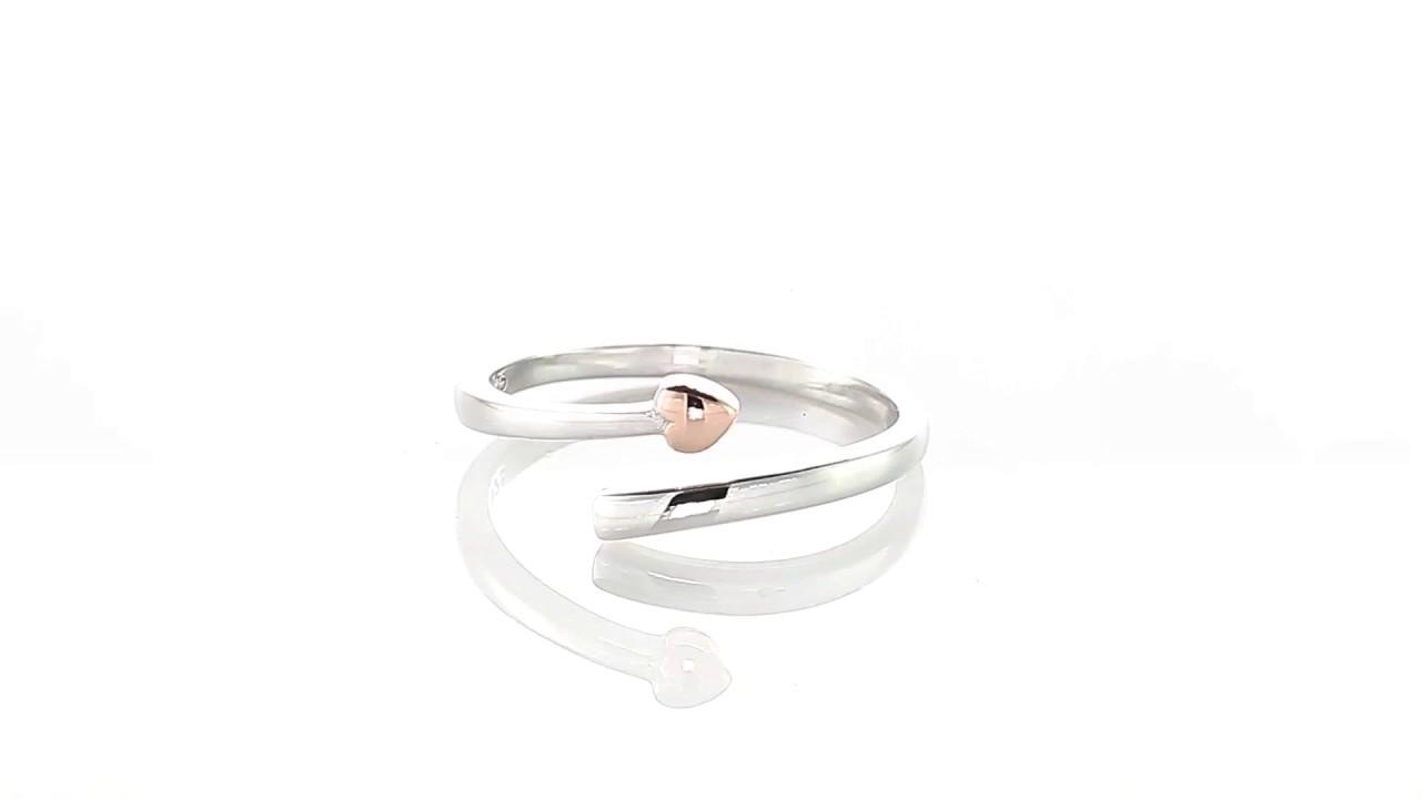 Materia 925 Silber Wickel Ring Herz Julieta Rosegold Ring Fur